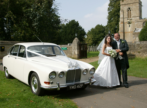 Jaguar 420 Wedding Car Hire Northamptonshire